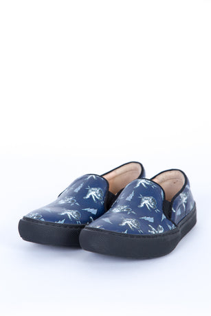 FIGHTING CAT NAVY SLIP-ON
