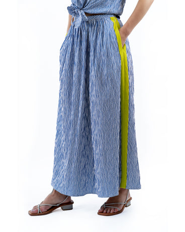 FRIDA BLUE/LIME SKIRT