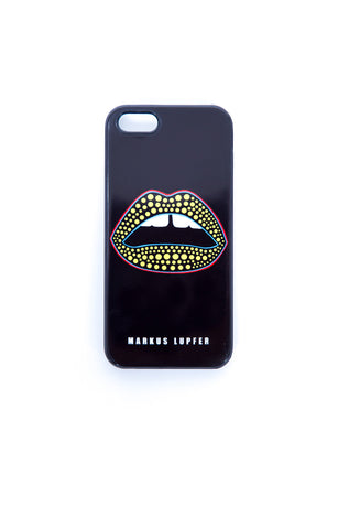 BLACK LIPS IPHONE 5/5S COVER - minbart
