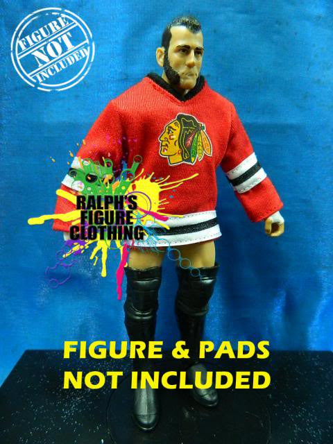 CM Punk Red Blackhawks Jersey