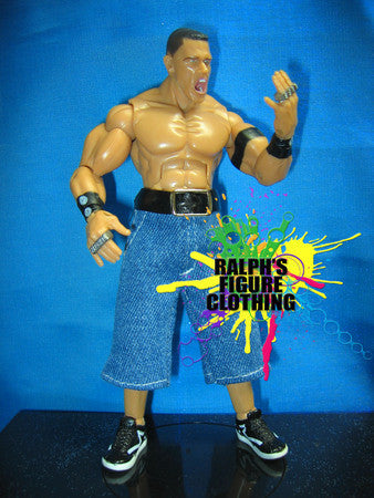 John Cena Blue Denim Short