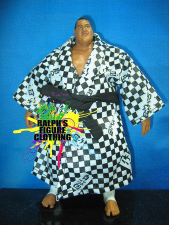 Yokozuna Black and White Checkered Robe
