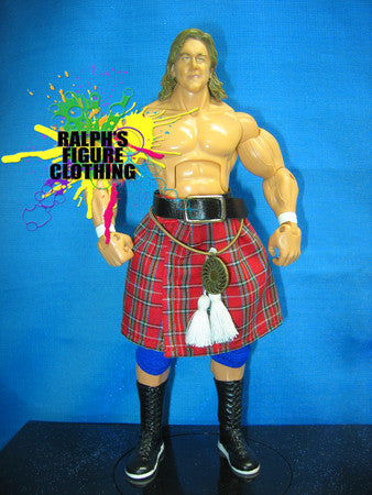 Roddy Piper Kilt with Belt, Tassles, and Sporan