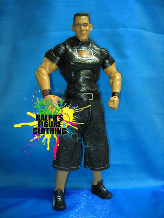 John Cena Black Denim Shorts