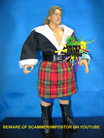 Roddy Piper Black Shirt and Kilt