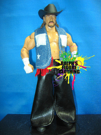 Terry Funk Denim Vest and Leather Chaps