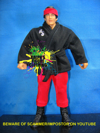 Ricky Steamboat Black Gi and Red Tights
