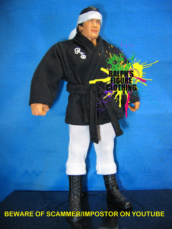 Ricky Steamboat Black Gi and White Tights