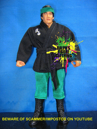 Ricky Steamboat Black Gi and Green Tights