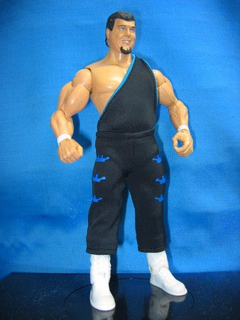 Jerry Lawler Black Tights with Blue Trims
