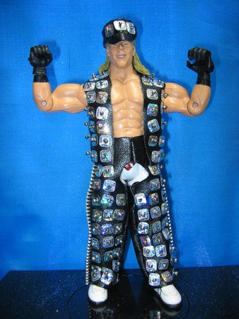 Shawn Michaels Black Vest, Chaps, and Hat A