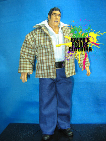 Andre the Giant Plaid Suit