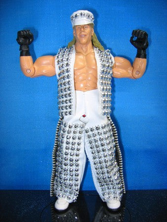 Shawn Michaels White Vest, Chaps, and Hat