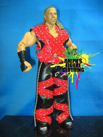 Shawn Michaels Red and Black Vest and Chaps
