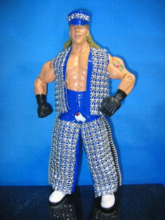 Shawn Michaels Blue Vest, Chaps, and Hat