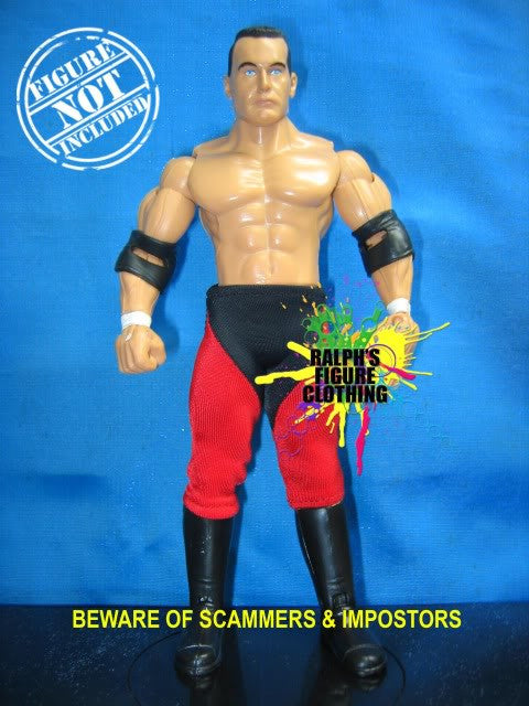 Lance Storm Red and Black Tights