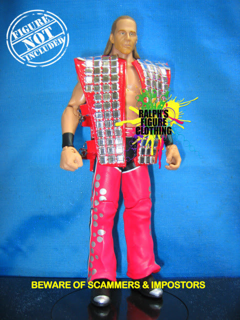 Shawn Michaels Red and Silver Vest