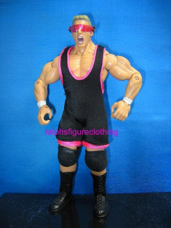 Owen Hart Black Singlet with Pink Trims
