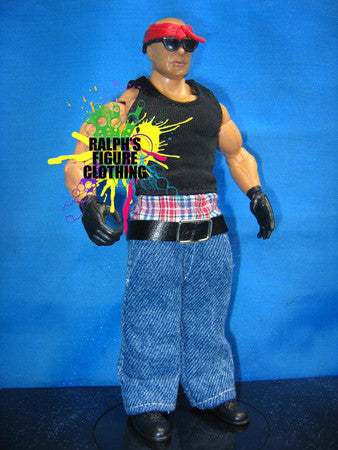 Konnan Black Shirt and Blue Pants