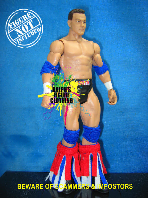 Mattel Figure RWB Tassles and Blue Pads
