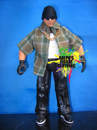 Konnan Plaid Green Shirt