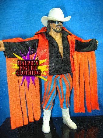 Randy Savage Orange and Black Jacket