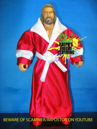 Big John Studd Red Robe with White Trims