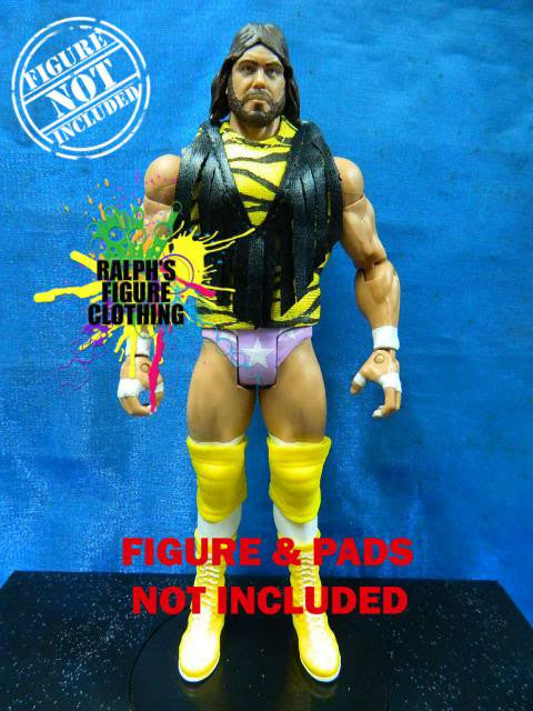 Randy Savage Yellow Shirt with Black Fringes