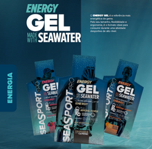Pack 30 pacotes de SEASPORT Energy Gel 32ml, sabor a Laranja