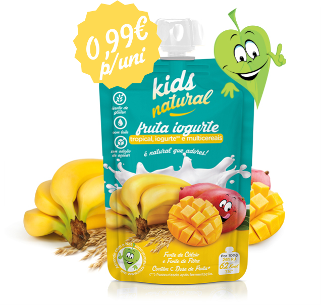 Caixa de 12 und Kids Natural Tropical Iogurte e Multicereais