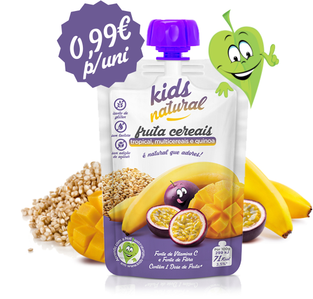 Caixa de 12 und Kids Natural Tropical Multicereais e Quinoa