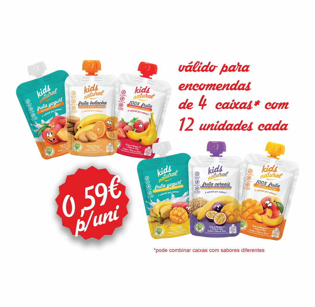 Promo Pack 48 unidades Kids Natural