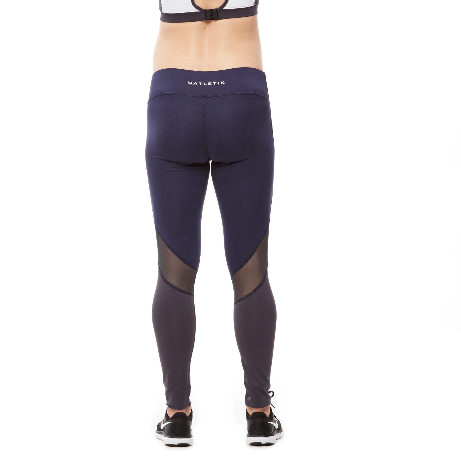 BRAVE LEGGING - Active full length mesh insert with mid waist