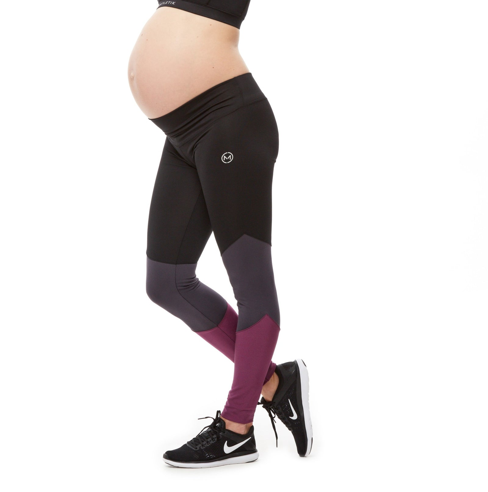 BALANCE LEGGING - Active full length colorblock with mid waist