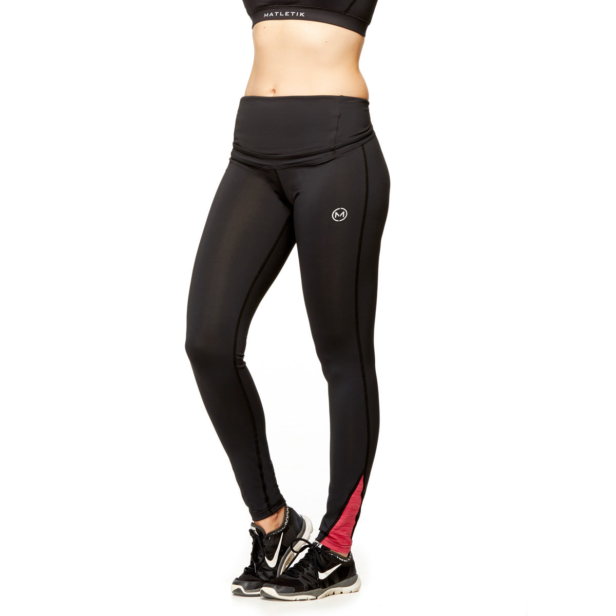 KARMA LEGGING - Active full length with fold over panel