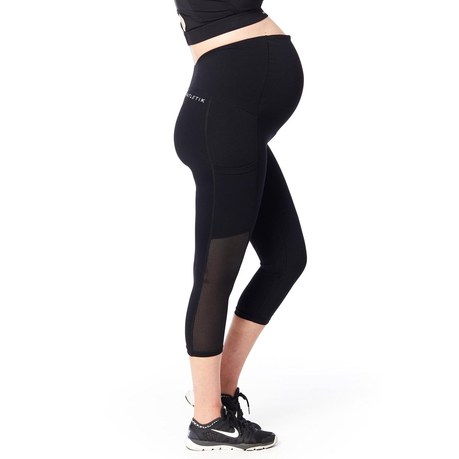 ESPRIT Capri legging with fold over panel and side pocket