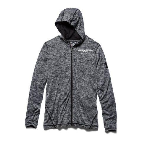 Charcoal Heather Tech Full Zip Hoodie