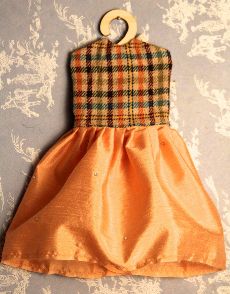 Vintage Plaid Peach dress