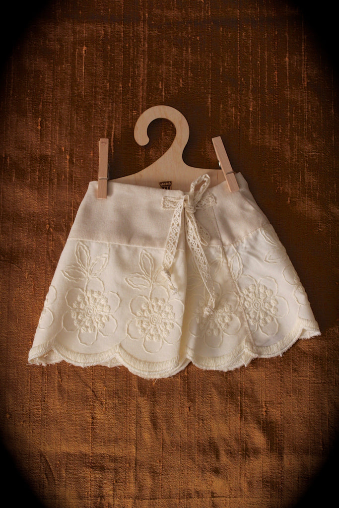 Hamilton Cream embroidered Skirt