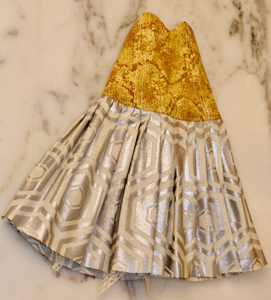 Saloon Dress: Honey- Comb