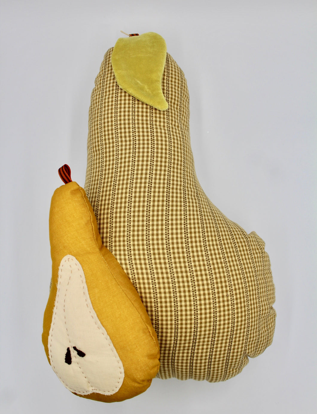 Checkered Brown Double Pear Pillow