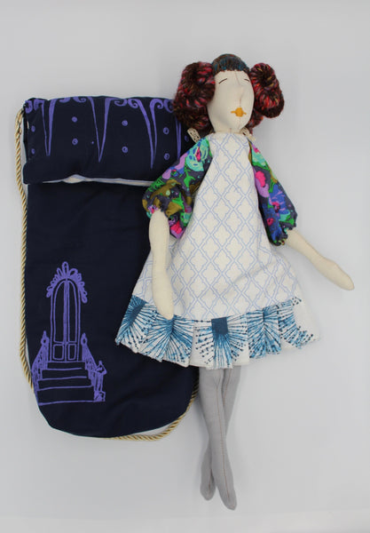"""Suezette"" 17 inch couture rag doll"