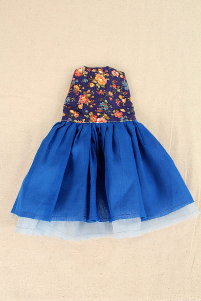 Crushed Gathered Swedish Blue Dress