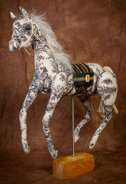 Black and white Toile Mustang *large