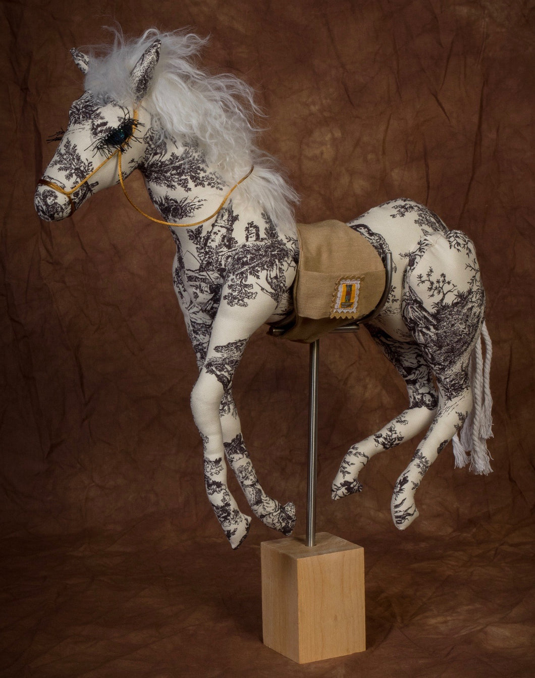 Black & White Toile Mustang * small