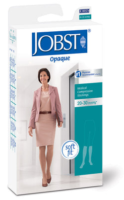 JOBST Opaque Stockings Knee Length 20-30 mmHg Regular Closed Toe - SmartFeetStore.com