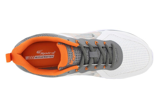 7a36d13dc935 ... Spira CloudWalker Men s White DarkGrey Orange - SmartFeetStore. ...