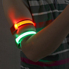 Active Sports Safety LED Reflective Armband Belt- 2 piece- by Smart Feet