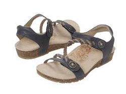 Aetrex Jillian Adjustable Quarter Strap Sandal Denim