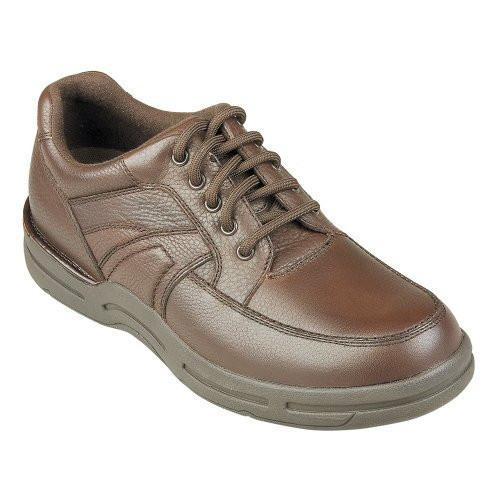 InStride Dakota Men's Comfort Therapeutic Extra Depth Casual Shoe leather lace-up Brown - SmartFeetStore.com